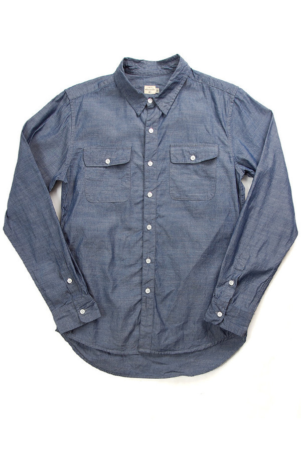 Men's Bridge & Burn Franklin Shirt- Blue Chambray