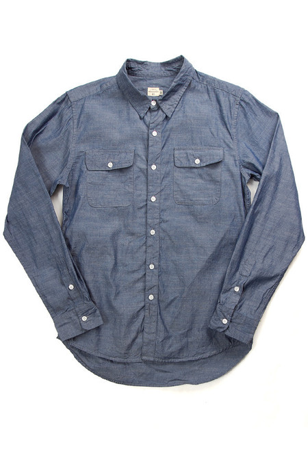 Men's Bridge & Burn Franklin Shirt- Blue Chambray