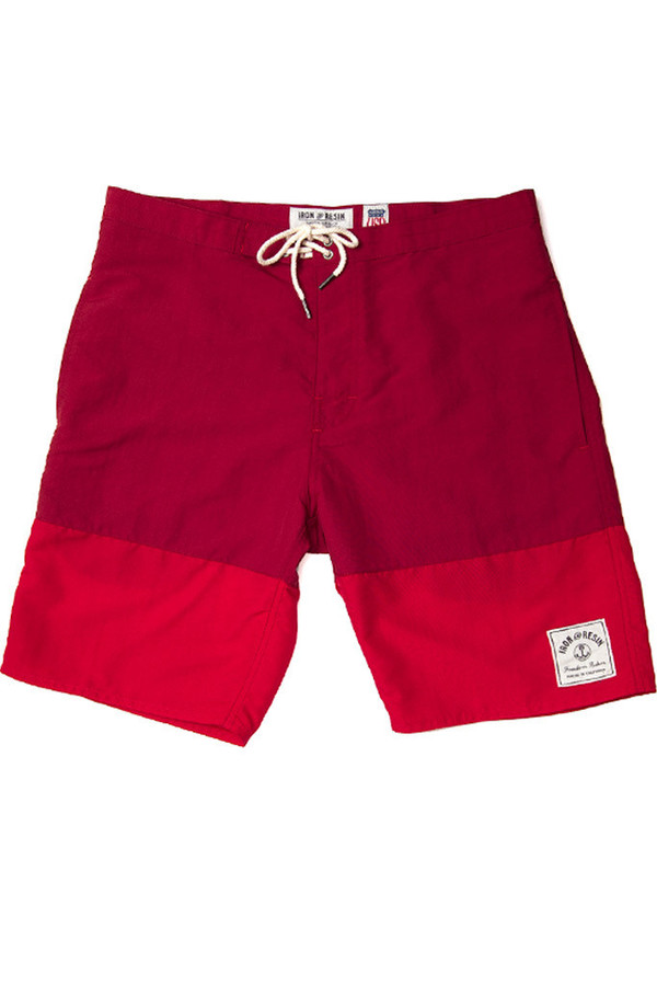 Men's Iron & Resin Hemi Boardshort Red