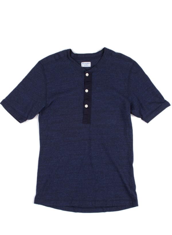 Men's Homespun Coalminer Short Sleeve Tee Indigo Jersey