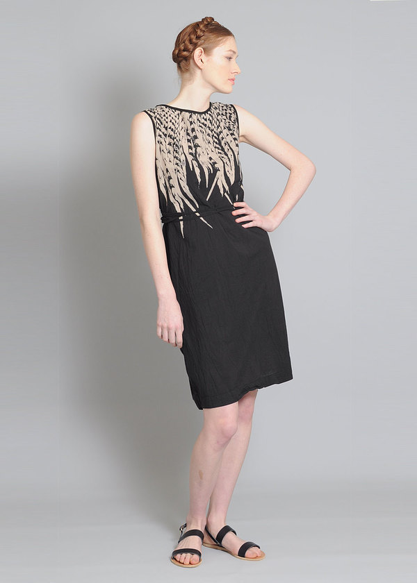 Uzi Black Feather Dress