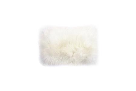"Primecut White Sheepskin Pillow (16"" x 10"")"