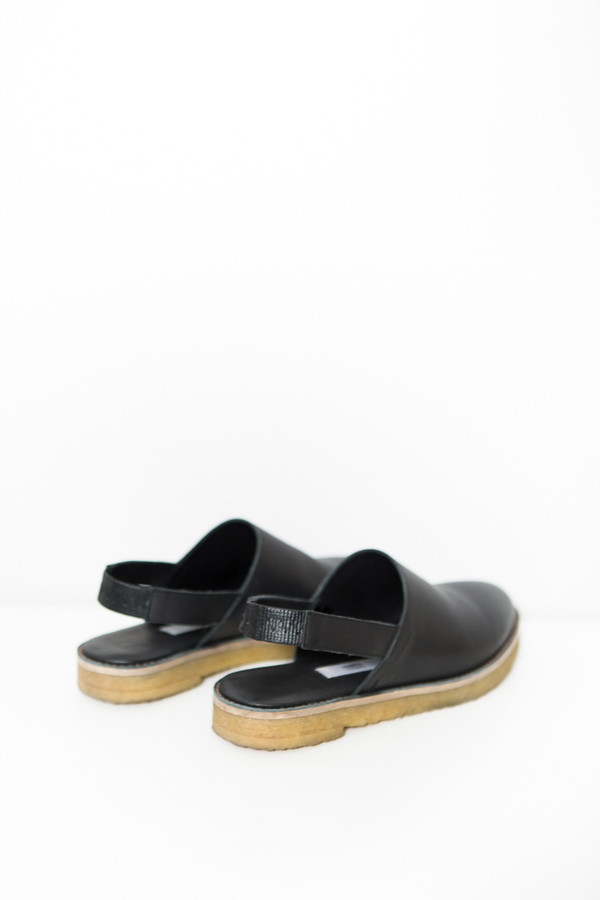Miista Elie Slingback / Black Leather