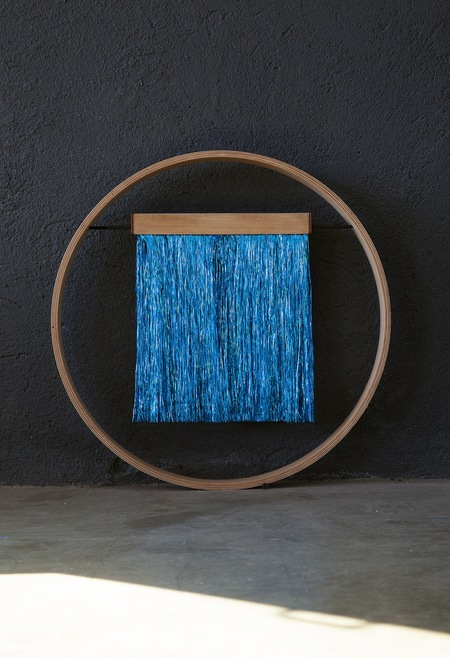 Julie Thevenot SMALL SIXZERO  METALLIC ELECTRIC BLUE WALL HANGING