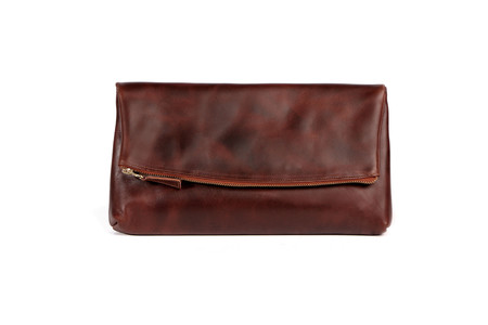 Nisolo Lima Clutch Brandy