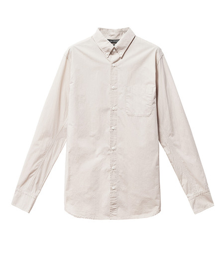 Men's Wings + Horns Monogram L/S Poplin Shirt | Ash