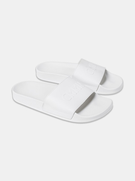 CMMN SWDN Pool Sliders | White/White