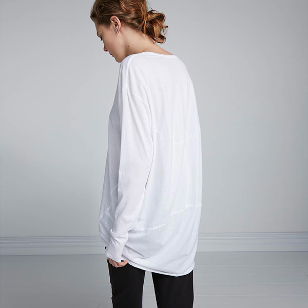 Kowtow Building Block Drape Back Top - white