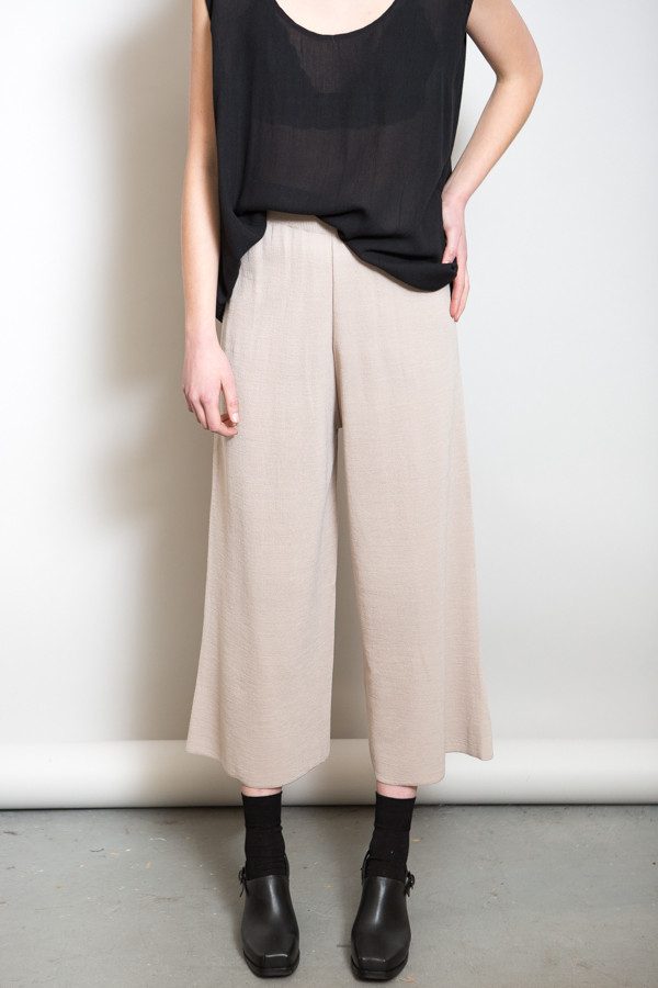 Achro Ribbed Waist Knit Pants / Beige