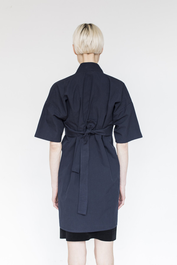 Assembly  Cotton Karate Dress - Navy