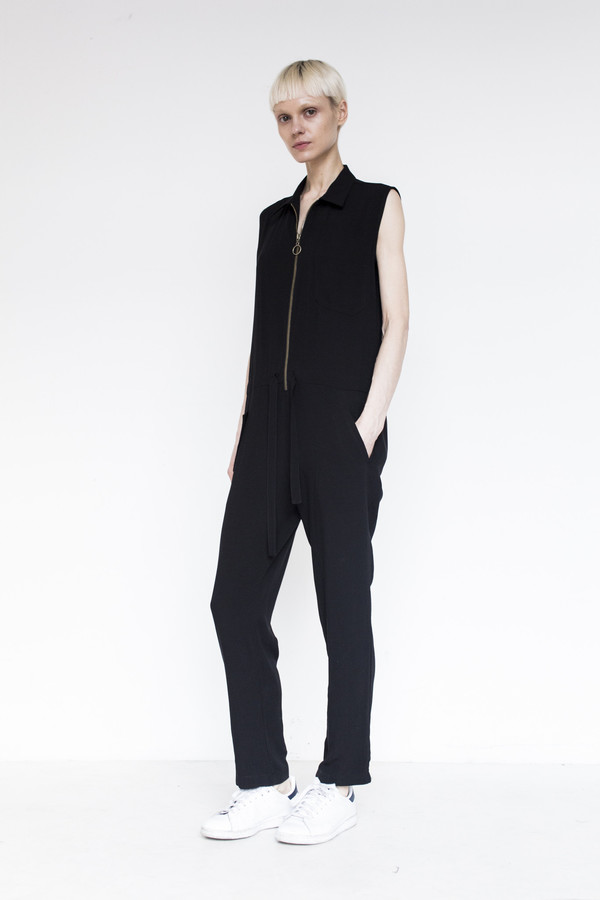 Assembly Crepe Coveralls