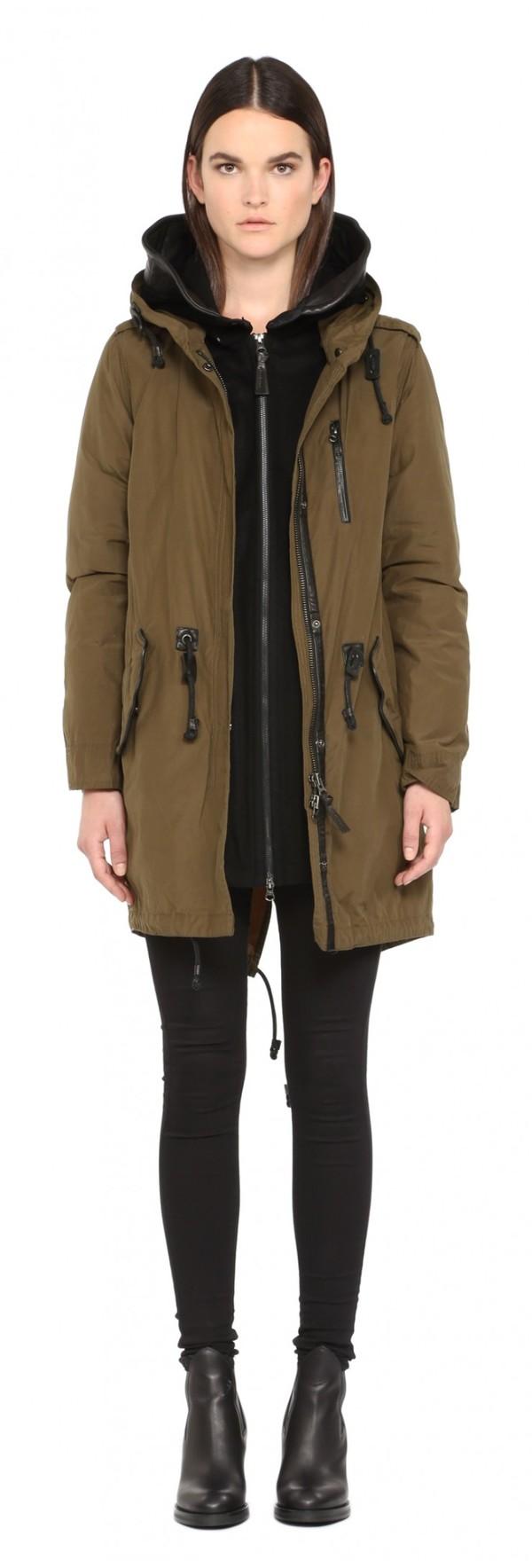 Mackage Khaki Waxed Cotton Sorrel Coat