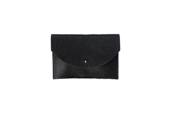 Primecut BLACK ENVELOPE CLUTCH