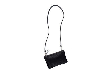 Primecut BLACK COWHIDE POUCH PURSE