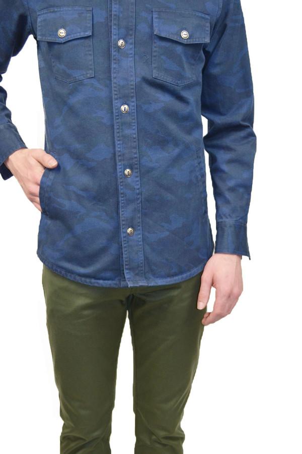 Men's Outclass Camouflage Overshirt I Indigo
