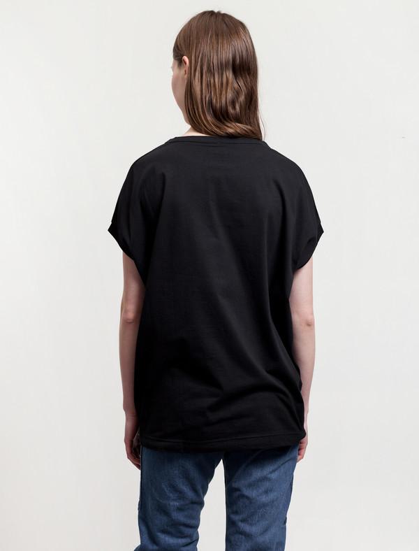 Ys by Yohji Yamamoto Cap Sleeve T-Shirt Black