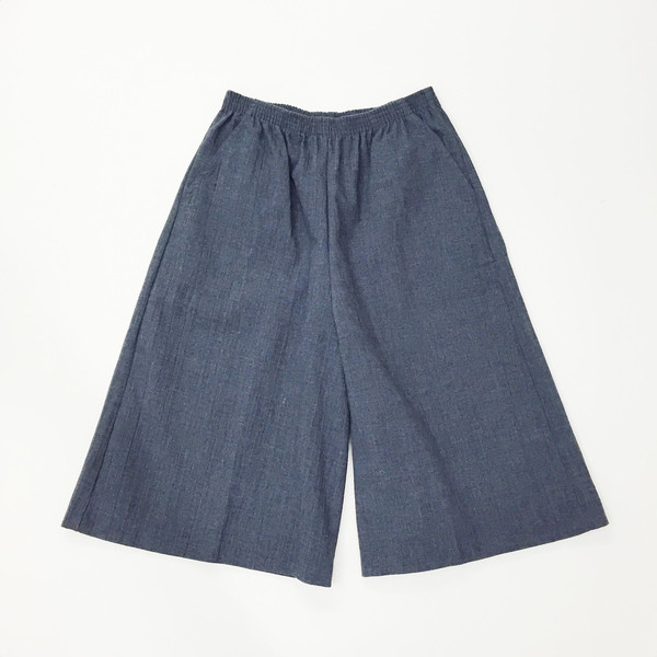 Textured Cotton Culotte