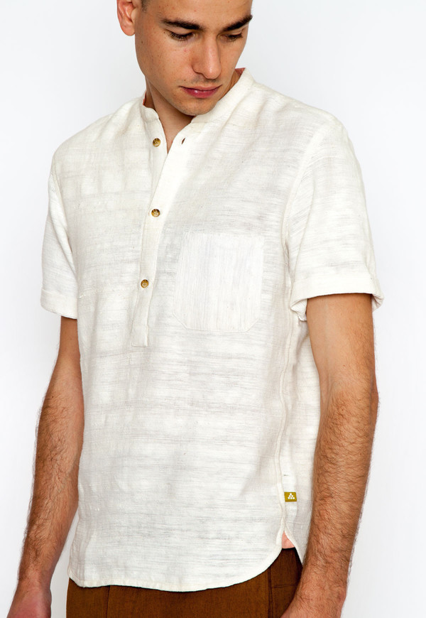 Men's New Market Goods Khadi Popover Shirt