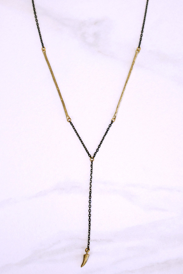 K/LLER COLLECTION Stalactite Drop Cobra Chain Necklace