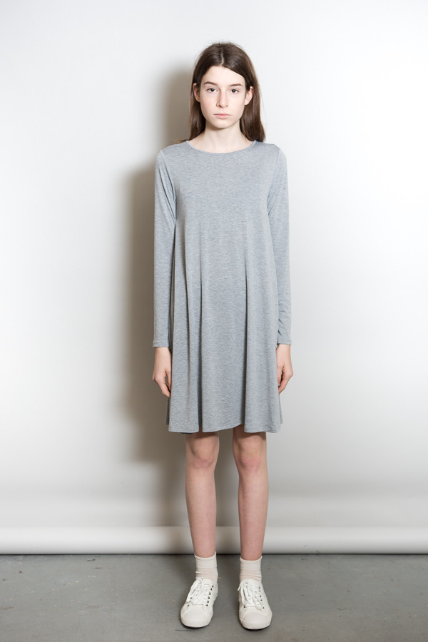 BLQ Basiq Long Sleeve Swing Dress / Grey