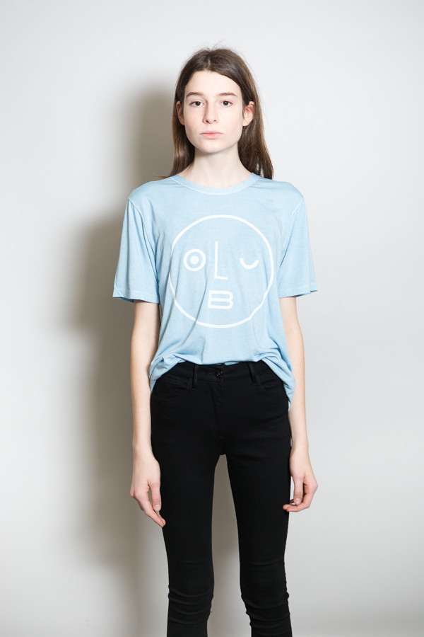Olderbrother Sonora Tee OB Logo / Light Indigo