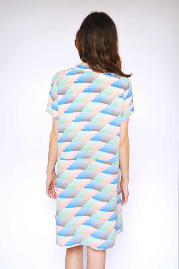 Dusen Dusen Gradient Stripe Oversize Tee Dress