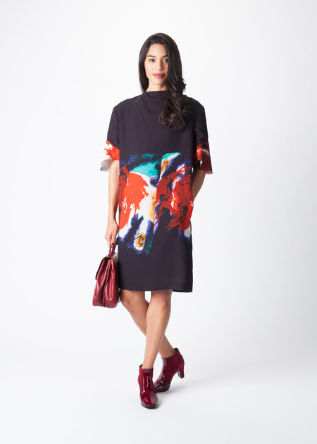 Sayaka Davis Cuff Printed Dress