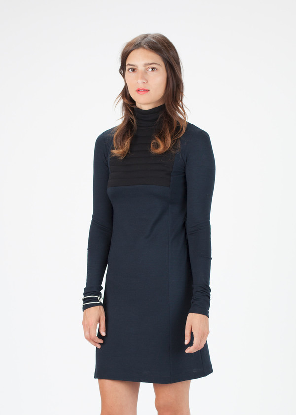Hache Long Sleeve Ribbed Dress