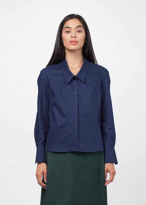 Gianfranco Scotti Wide Collar Poplin Shirt