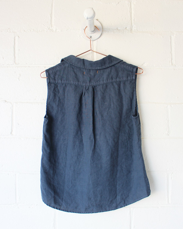 Espy WEST LAKE SLEEVELESS TOP - INDIGO