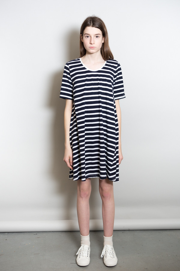 Kowtow Building Block Swing Dress - Stripe