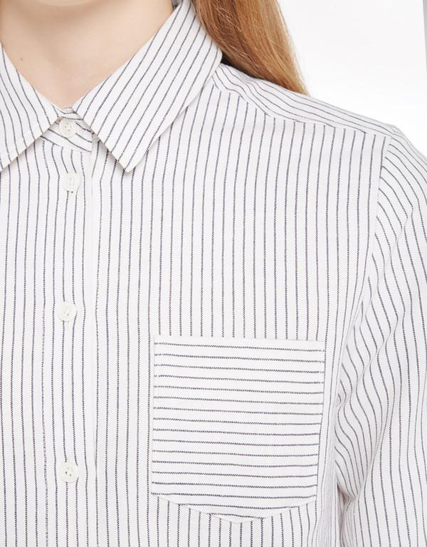 YMC Linen Stripe Shirt