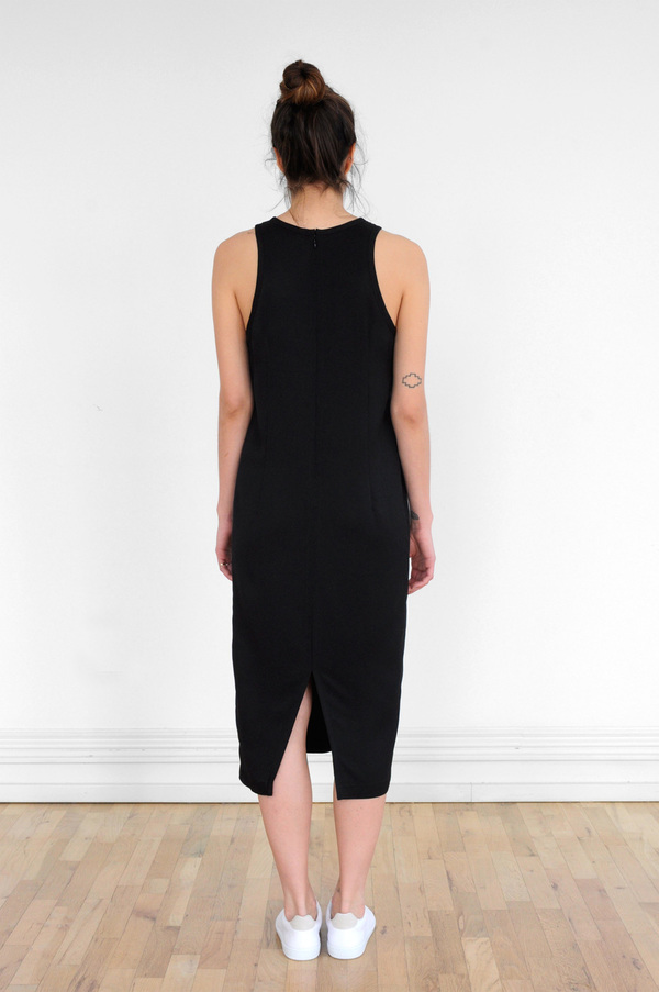 Waltz Sleeveless Racer Dress in Black