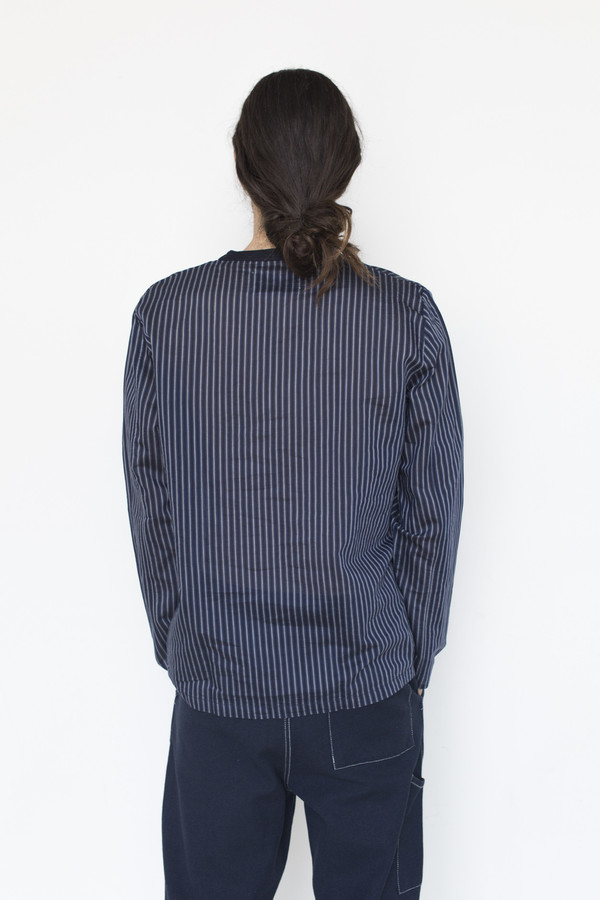 Our Legacy Cotton/Silk Woven Stripe Long-sleeve Shirt
