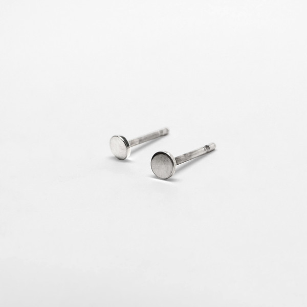7115 by Szeki Mini Disc Stud Earrings