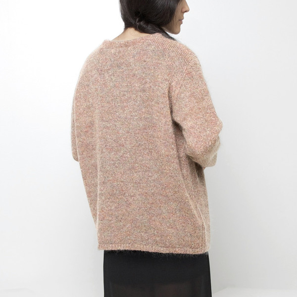7115 by Szeki Mohair Pullover Sweater FW15 - Honey