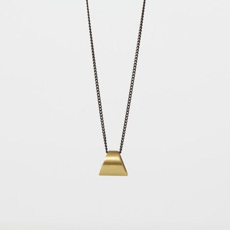 7115 by Szeki Trapezoid Drop Necklace