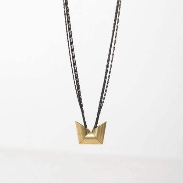 7115 by Szeki Triple Trapezoid Necklace