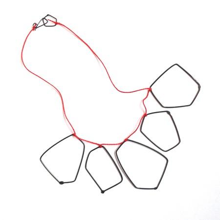 Gabrielle Desmarais 5 elements on thread necklace