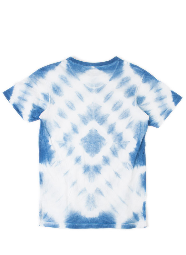 The Hill-Side Hand-Dyed Murakumo Shibori T-Shirt, Natural Indigo