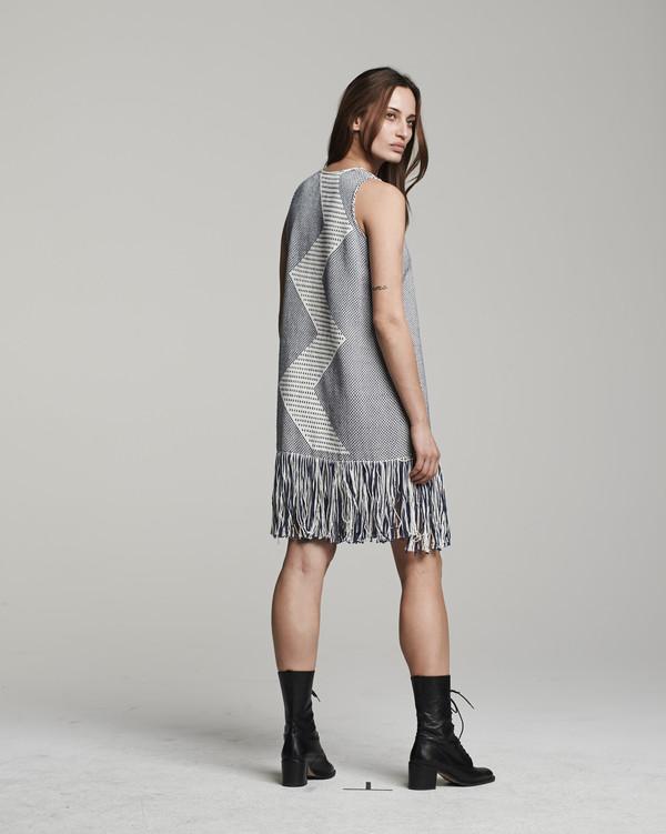 VOZ Zig Zag Dress - Indigo