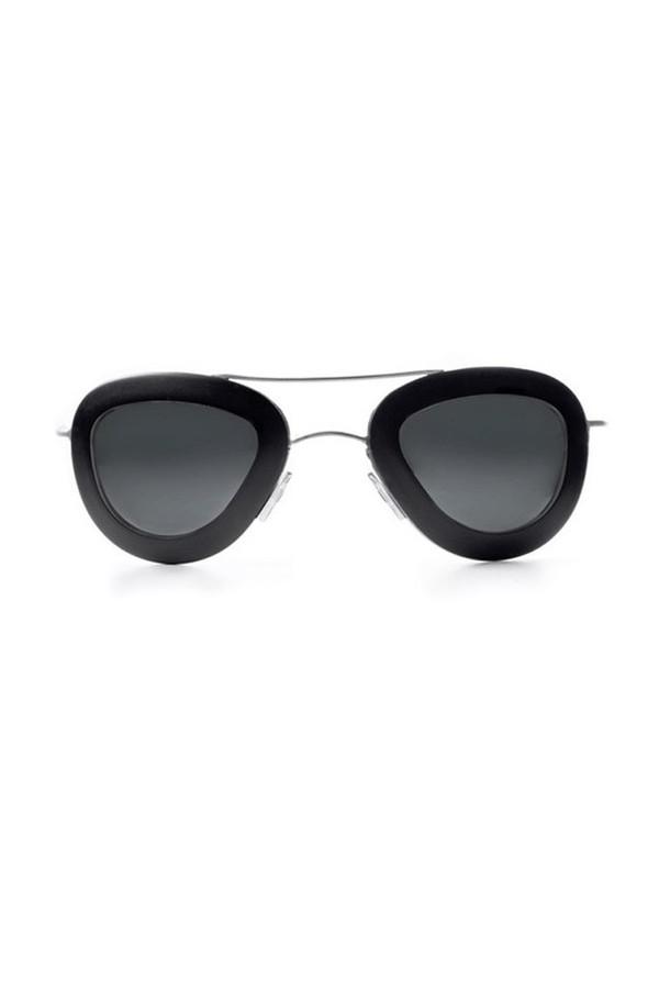 Unisex Haal Aluminum Erika Sunglasses - Black/Black
