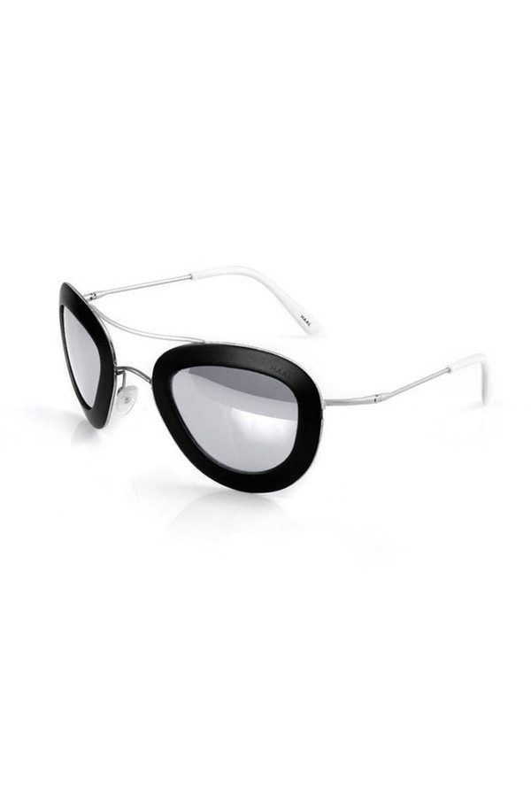 Unisex Haal Aluminum Erika Sunglasses - Black/Smoke