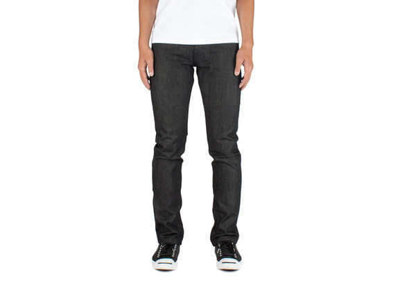 Men's Unbranded Skinny Fit Black Selvedge
