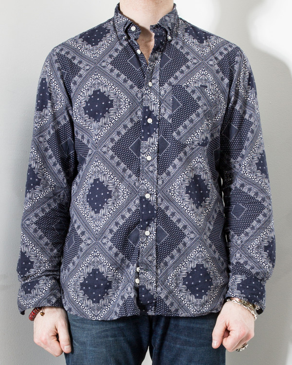 Gitman Bros. Bandana Shirt