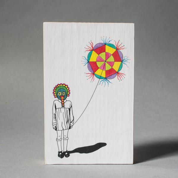 Carlos Baldizon Martini Masked Girl with Barrilete