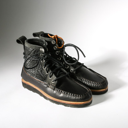 Men's The Brothers Crisp Black Moccasin