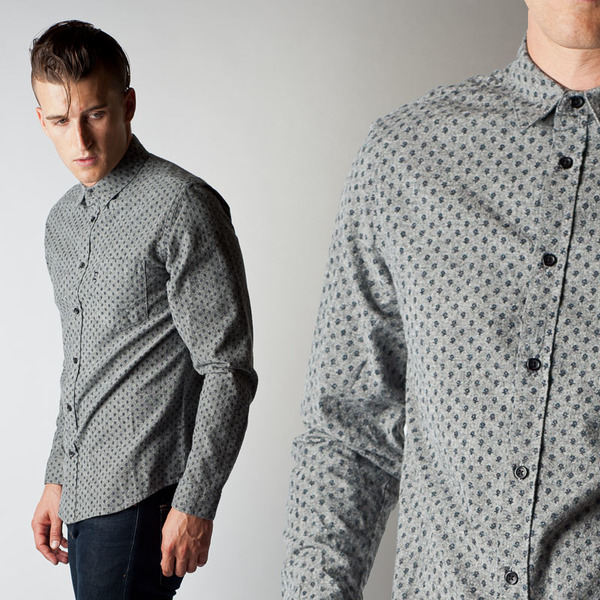 Men's Wolf & Man Le Blanc 2 Shirt
