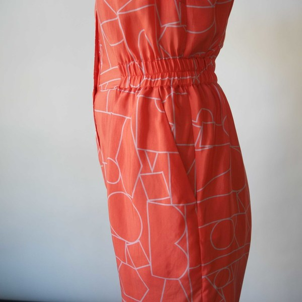 Dusen Dusen Romper in Blockhead Red Print