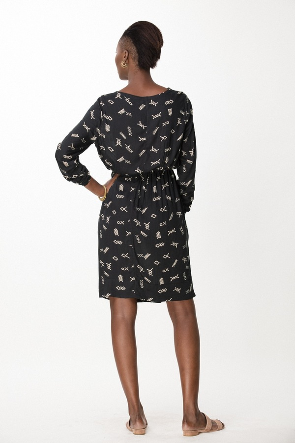 Osei-Duro Aburi Dress in Black Jot
